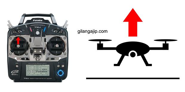 cara menerbangkan quadcopter fungsi throttle