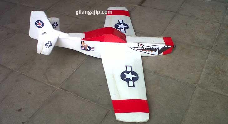mini Mustang pesawat gabus RC Plane